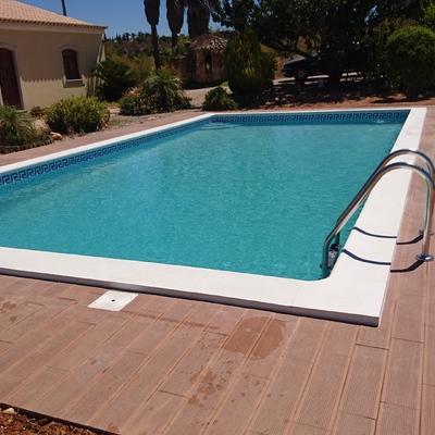 contrução de piscina