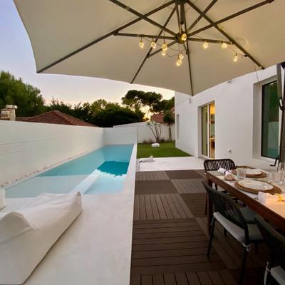piscina e zona de refeições