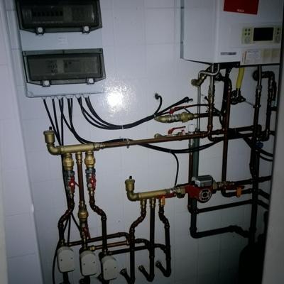 Instalação e execução de equipamento sanitário e aquecimento central