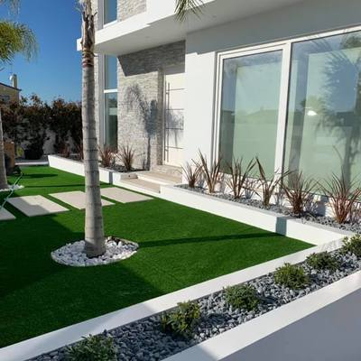 Construção de espaços verdes em moradia