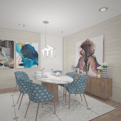 Projeto de Design de interiores- sala e escritório