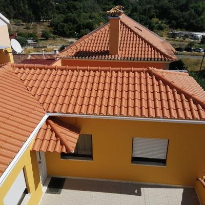 Obra de reformulação de telhado / Cobertura