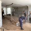 Durante a obra - Sala e Cozinha