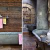 banheiro de zinco