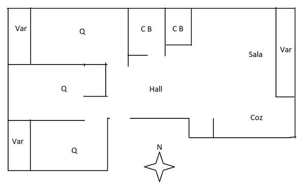 Aquecimento central - Apartamento T3 - 100 mq