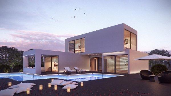 Gostaria de saber quanto tempo levam para construir uma casa destas e o custo com ou sem piscina?