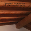 Reconstrucão de telhado em moradia