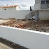 Aplicação de piso em zona exterior da casa/ quintal