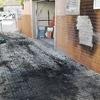 Reparar e pintar espaço exterior após incêndio de viatura