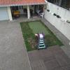 Construção de piscina com cobertura