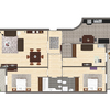 Decoração completa - sala; suite; escritório